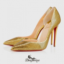 Galupump 100mm Gold Leather BSCL7369275