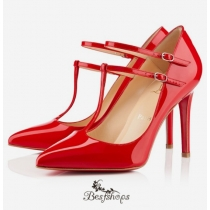 V Neck 100mm Pumps Red BSCL830157