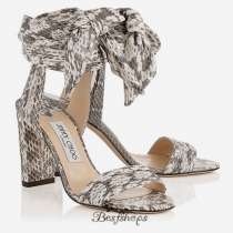 Jimmy Choo Snake print Elaphe Sandals 85mm BSJC7475428