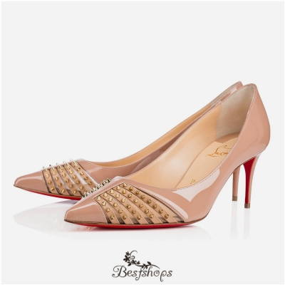 Bareta 100mm Nude Patent Leather BSCL107536