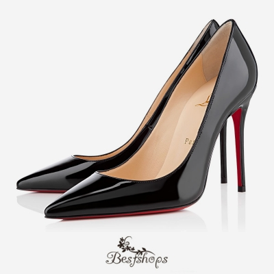 Decollete 554 100mm Black Patent Leather BSCL900193