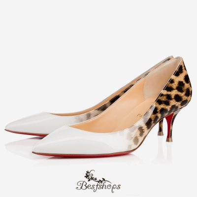Pigalle Follies 55mm Latte-Leopard Patent Leather BSCL900172