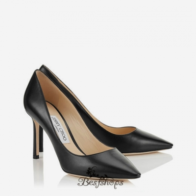 Jimmy Choo Black Kid Leather Pointy Toe Pumps 85mm BSJC2714027
