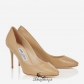 Jimmy Choo Nude Kid Leather Round Toe Pumps 85mm BSJC7418375