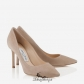 Jimmy Choo Nude Suede Pointy Toe Pumps 85mm BSJC7375241