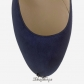 Jimmy Choo Navy Suede Round Toe Pumps 50mm BSJC7418469