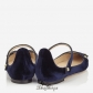Jimmy Choo Navy Velvet and Black Patent Pointy Toe Flats BSJC7437628