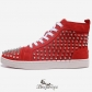 Mens  Louis Spikes High Top Sneakers Red BSCL4811662